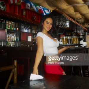 A Waitress at a Restaurant