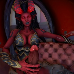 A Futanari Demoness Ravages Your Virgin Ass